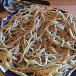 浅見製麺所 - 大盛。麺一本一本の存在感は非常に強く、ぬねるような表面