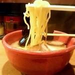 あじ助 - あじ助@掛川本店 中華そばの麺