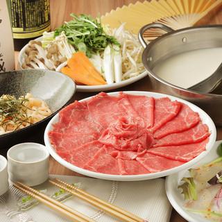 しゃぶしゃぶ食べ放題2480円~!ご予算に合わせて選べるお肉