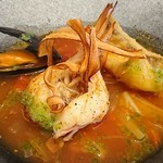 レストラン タガミ - 甘鯛と海老とムール貝のスープ仕立て