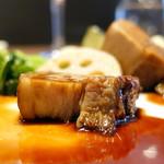 97633381 - ドルチェポルコ豚バラ肉の赤ワイン煮込み