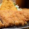 とんかつ せん石 - 料理写真:熟成黒豚ロースかつ(小120g)@1,380円 + アジフライ@350円