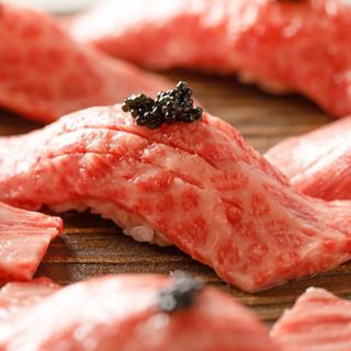 名物!黒毛和牛握り寿司盛り合わせ!