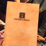 THE ROSE&CROWN - メニュー表紙