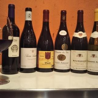 仏ワインからカクテルまで。リーズナブルさが魅力のドリンク◆