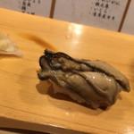 すし屋 高大 - カキを低温で煮たもの