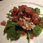 ラ・ルッチョラ - サラダ   せこ蟹とトマト