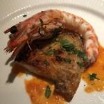 ラ・ルッチョラ - 魚料理   大きな車海老と鰈の王マツカワのグリル