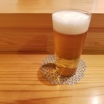 はつね寿司 - 生ビール