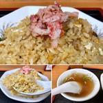 97657561 - 蟹さんアップ(^^)♪                       ご飯パラパラは、2度炒め。玉子と混じり合い、殊の外最初のひと口が美味い!(^^)