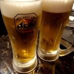 ラム王 ジンギスカン邸 - 生ビール(スーパードライ)500円