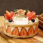 チャヤ ナチュラル&ワイルドテーブル - 嘉山農園 苺のショートケーキ(グルテンフリー)