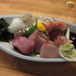 割烹 魚仙 - おまかせ盛合せ 1500円 (2018.11)