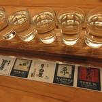 割烹 魚仙 - おまかせ吟醸酒 五銘柄