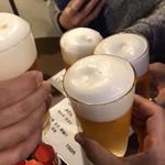 bi-runagayakantarou - 恵比寿ビールで乾杯☆泡がモリモリですね