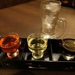 海鮮和食 行楽庵 - 霧島飲み比べ極 1,500円