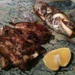 太郎源 - マグロと太刀魚の焼き物。脂乗ってる!