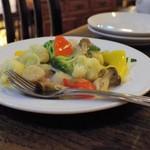 中国家常菜 燕郷房 - ホタテと季節野菜のうす塩炒め