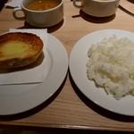 97680739 - ご飯はジャンボハンバーグセット、パンはナポリタン