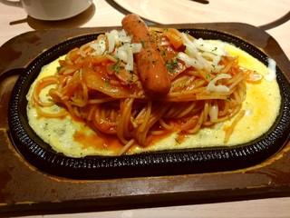 焼肉プリンス&喫茶 - 鉄板ナポリタン850円