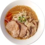 地鶏らーめんはや川 - 料理写真:濃厚味噌ラーメンピリ辛(豚バラトッピング)