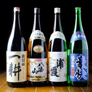 種類豊富な地酒・銘柄焼酎ご用意しております。