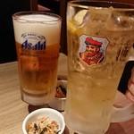 甘太郎 - メガジョッキで乾杯