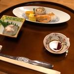 日本料理 やまと - かに味噌他付け出し