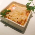 クッチーナ イタリアーナ ガッルーラ - ゴルゴンゾーラのブリュレとりんご