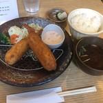 自由ヶ丘のごはん お住 - 料理写真:海老かつ定食 950円