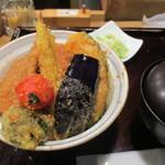 97695843 - 野菜ヒレカツ丼