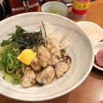 97697847 - 炙り牡蠣そば980円