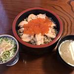 与香朗寿司 - はらこ飯、サラダ、お椀