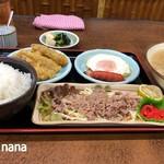 かかしうどん - 2018.11 朝食セット(豚汁)550円