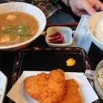 のんき亭 - アジフライ定食