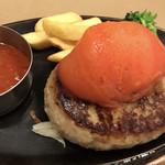 ヴィクトリアステーション - トマトチーズinハンバーグ 単品(トマトソース)