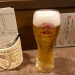 海鮮立呑 牡蠣スタンド - 駆けつけ一杯で乾杯♪