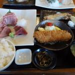 三崎「魚市場食堂」 - マグロ尽くし定食
