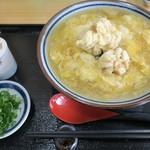 手打ちうどん まる泉 - 料理写真:鱈白子鶏卵うどん