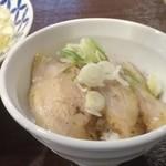 麺場ニ寅  - チャーシュー豚丼¥250
