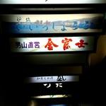 やき鳥 金富士 - 階段 B1にお店あります