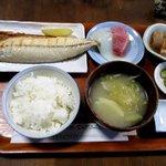 羅甸 - 鯖の塩焼き お刺身を付けて!