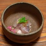 旅舎右馬允 - 2018.11 岩魚のお刺身 岩魚のイクラ 自然薯