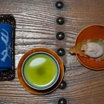 旅舎右馬允 - 2018.11 おしぼり、お茶、干し柿