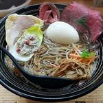 極麺 青二犀 - 【(限定) らの道限定「但馬」 + 煮たまご】¥1800 + ¥100