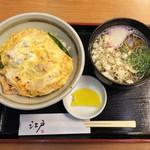 江戸そば - 親子丼セット