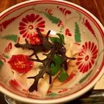 97722587 - ムール貝の茹で春巻き きのこのスープ