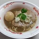 寿製麺 よしかわ - 【特濃煮干そば + 味玉】¥650 + ¥100