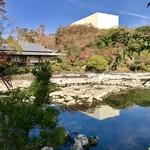お休み処 桜 売店 - 9月より随分水位が下がっていました