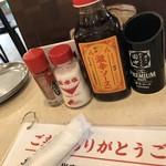 串カツ田中 - 卓上調味料